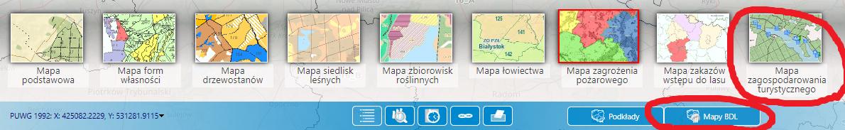 mapa bdl